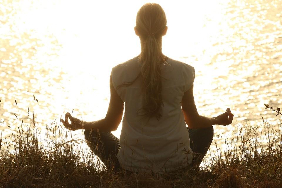 瞑想, 平和, シルエット, 日没, 静かな, ヨガ, 禅, 穏やかな